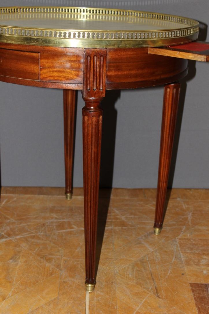 Table Bouillotte De Style Louis Xvi En Acajou Antic Web